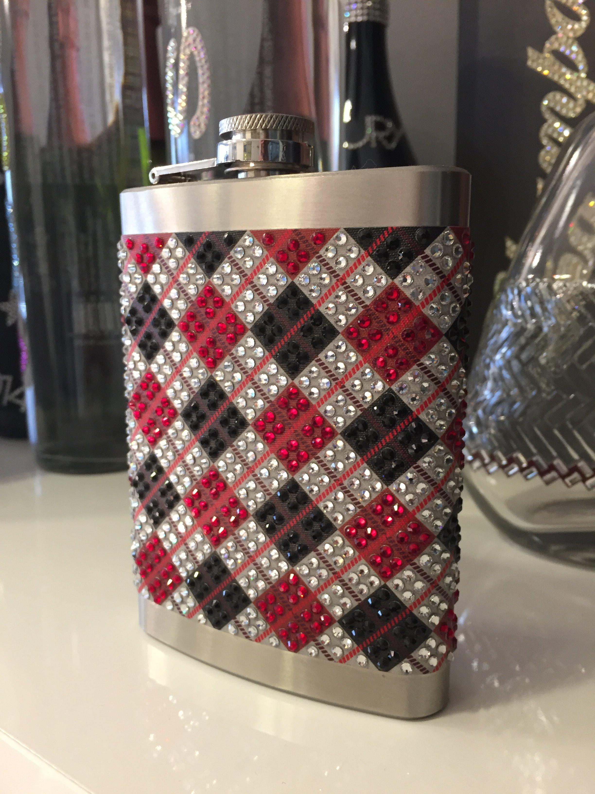 Bottiglietta in alluminio con decorazione Sticky Crystal