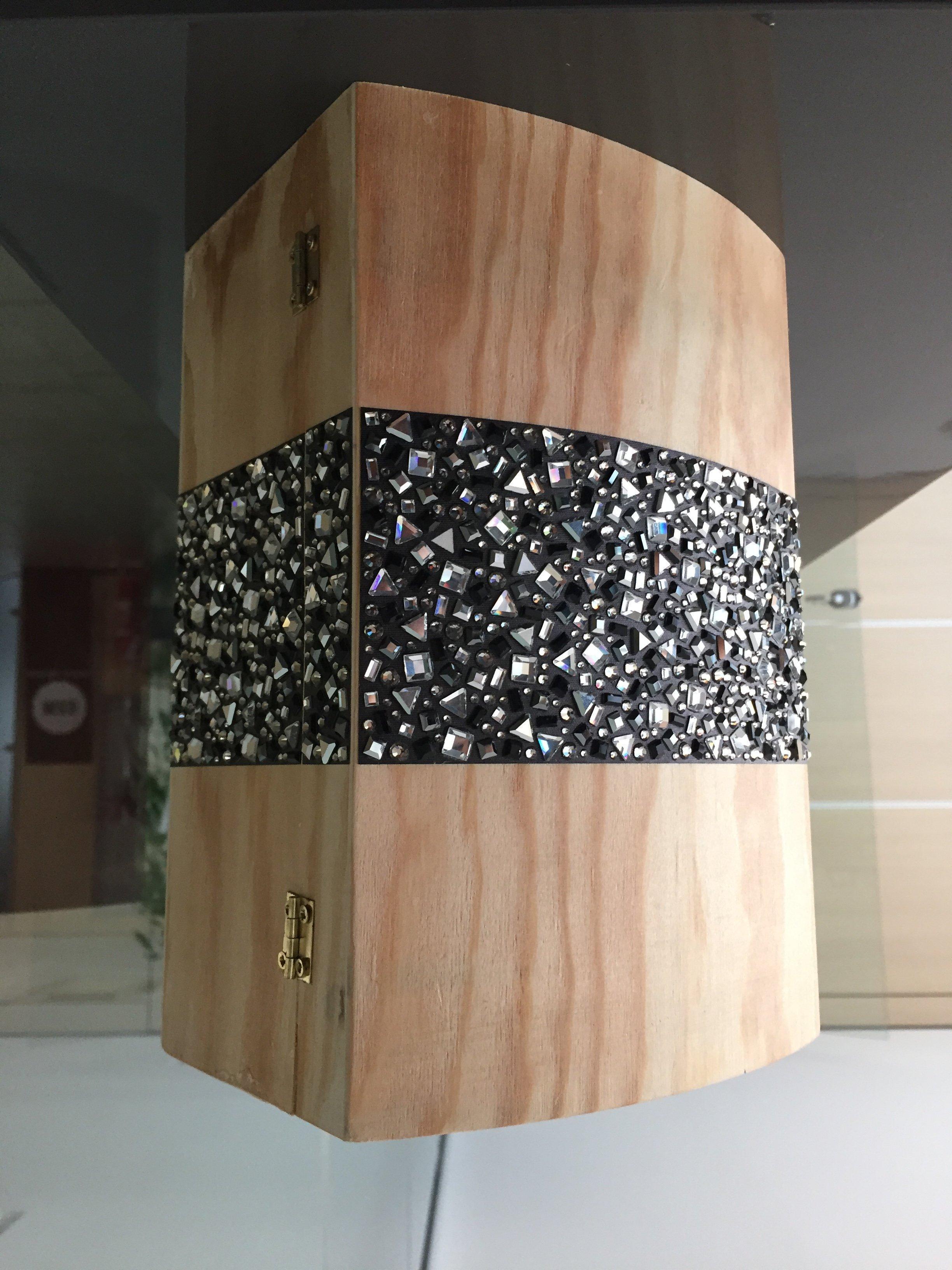 Bauletto in legno con fascia Sticky Crystal