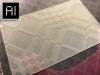 Etichetta in Silicone trasparente opalino con texture