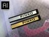 Etichette in microiniezione di PVC o Silicone oro e argento