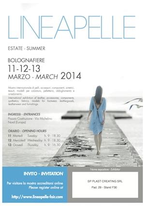 Invito Lineapelle Primavera-Estate 2015 by SP PLAST Creating S.r.l. - Stampaggio materie plastiche, Iniezione su pelle