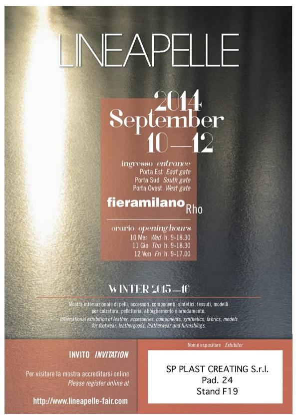 Invito Lineapelle 2014_09 - SP Plast Creating S.r.l.