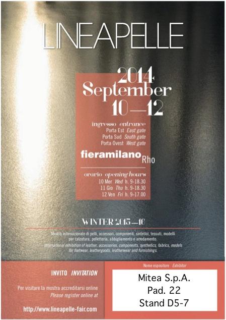 Invito Lineapelle 2014_09 - Mitea S.p.A.