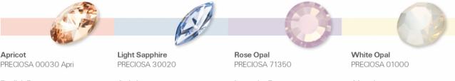 Preciosa & Pantone Spriing-Summer 2016 colur trends - Cupcake Sweetness