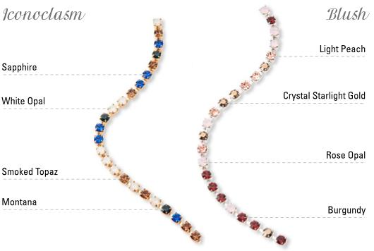 Preciosa Components - Cup Chains multicolour - Iconoclasm e Blush