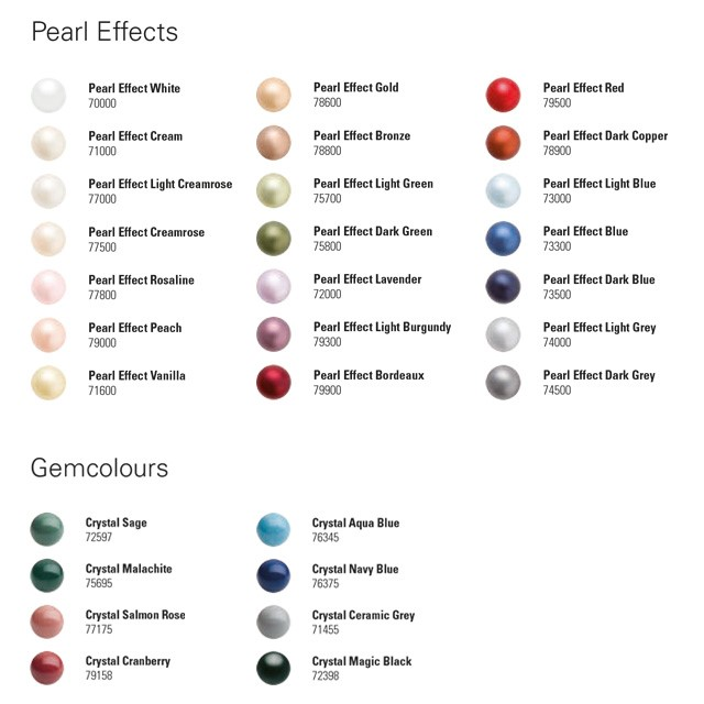 Preciosa® Crystal Nacre Pearls Maxima - Gamma colori