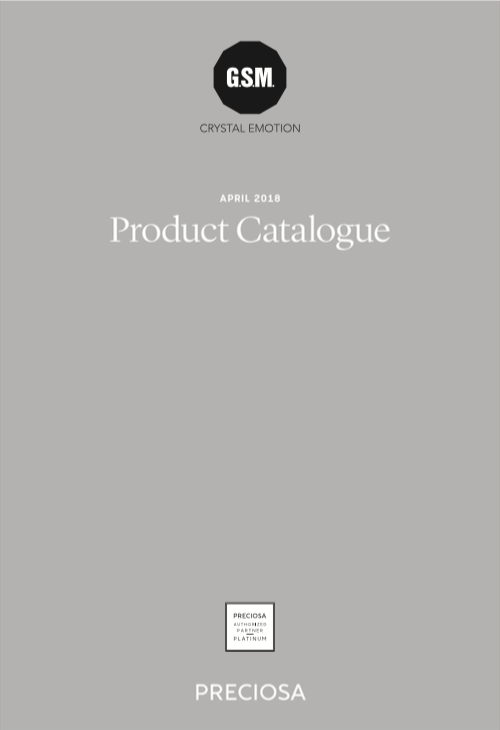 Preciosa Product Catalogue 2018 Cover