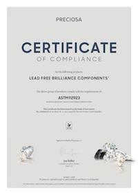 ASTM F2923 Certificate - Miniatura