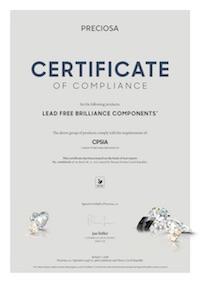 Miniatura della Certificazione CPSIA Preciosa