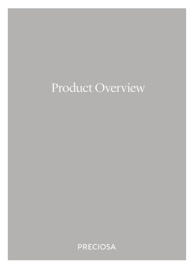 Copertina Catalogo Preciosa® Product Overview