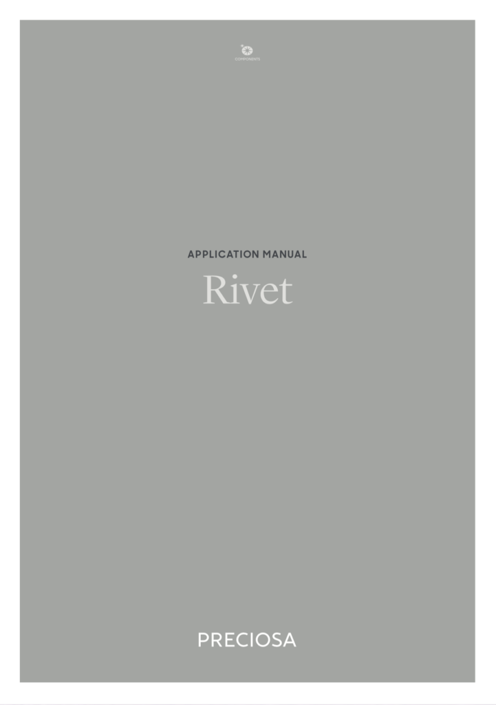 Copertina Manuale Preciosa® Rivet Application