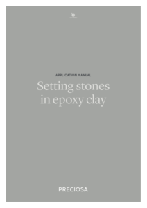 Copertina del Manuale Preciosa® Setting Stones in Epoxy Clay