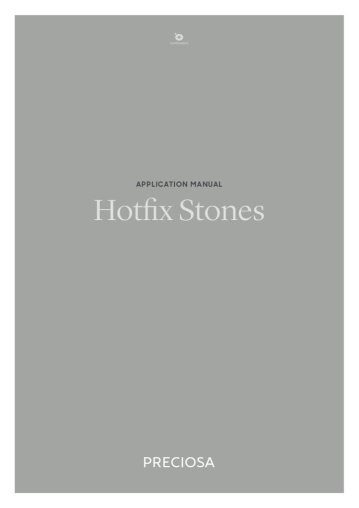 Preciosa Application Manual - Hot Fix Stones