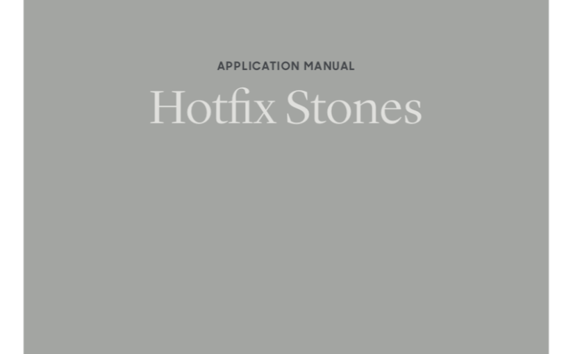 Preciosa Application Manual - Hot Fix Stones