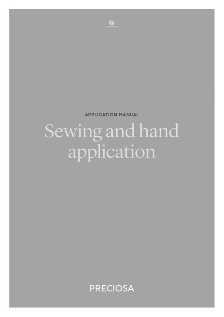 Preciosa Manual - Sewing and Hand Application