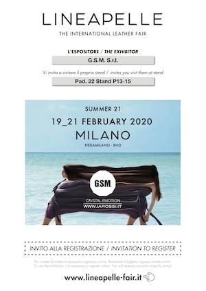 Invito Lineapelle 2020_02 – G.S.M. S.r.l.