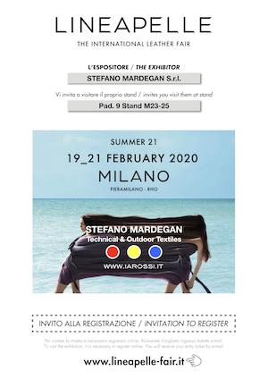 Invito Lineapelle 2020_02 – Stefano Mardegan S.r.l.