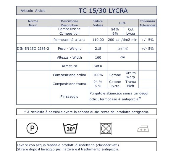 TC 15/30 Lycra